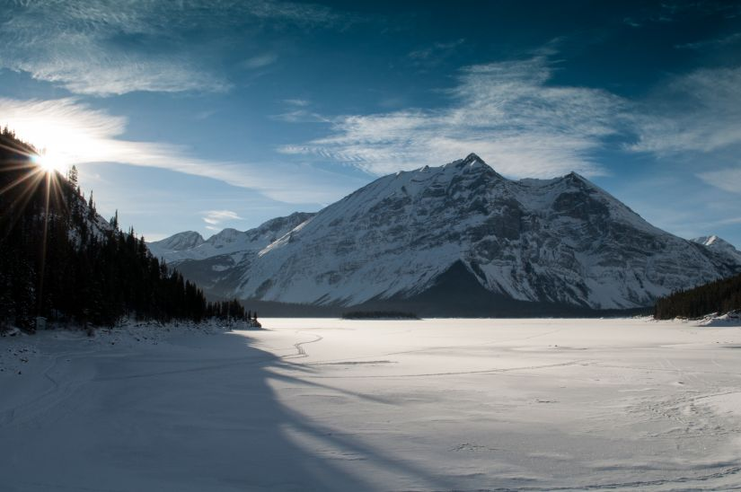 Banff Alberta Canada Mountains HD photo background