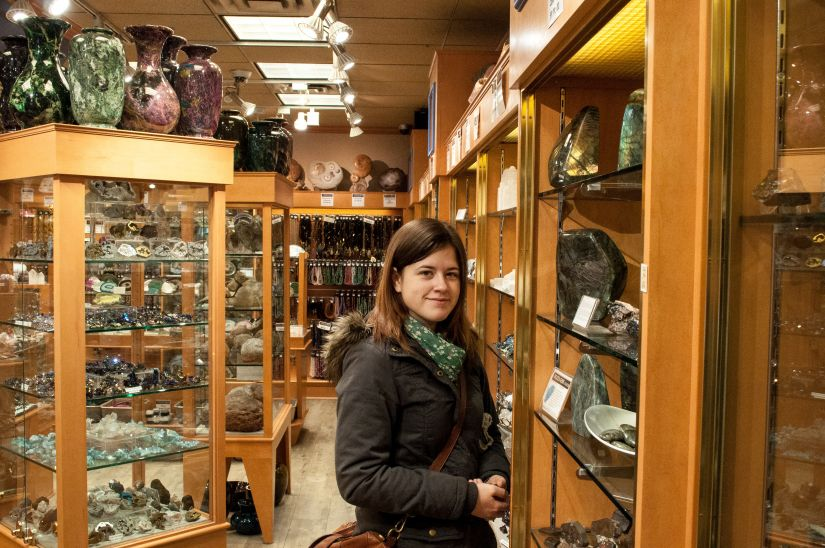Rocks and Gem store in Banff Alberta Canada