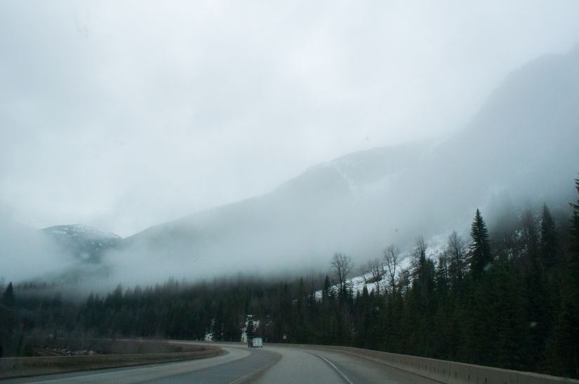 Foggy Mountains Before entering the storm