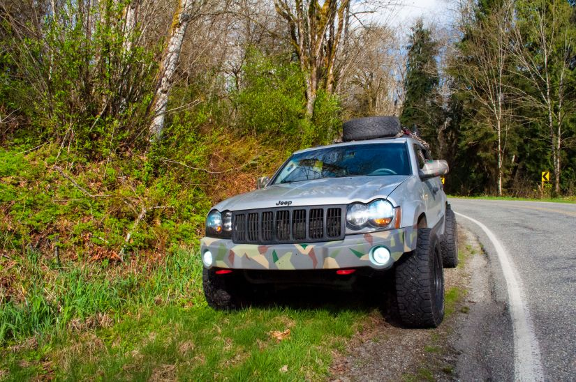 Our 2006 lifted Jeep Grand Cherokee in Washington