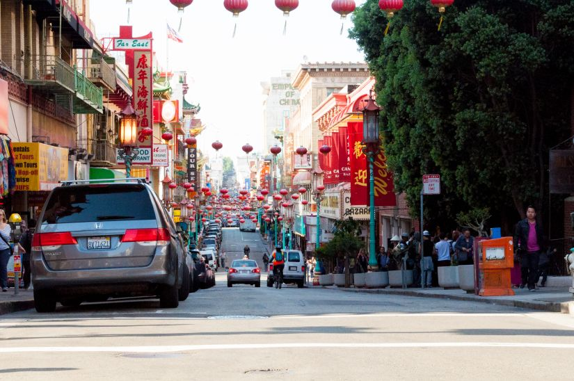 Chinatown San Francisco Busy Street