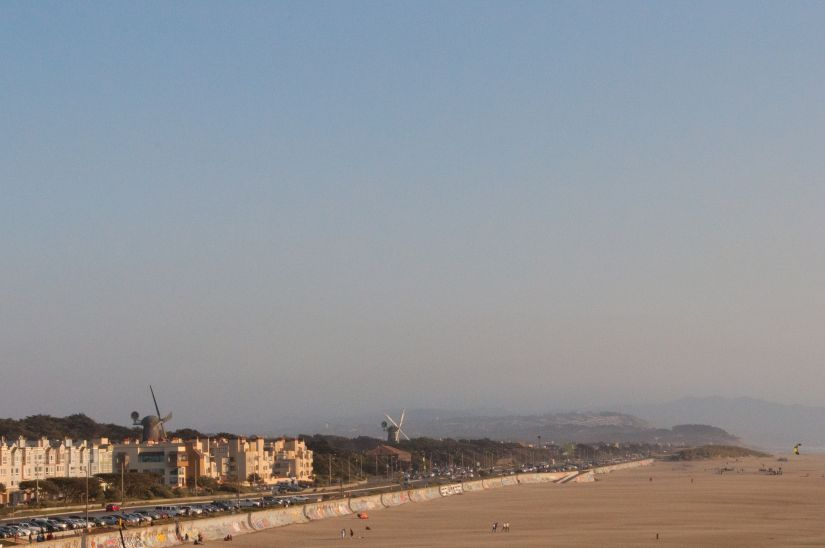 One of the main beaches of San Francisco