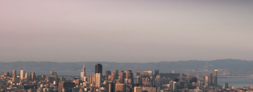 San Francisco Skyline from Twin Peaks Dusk Beautiful Sky Free Download